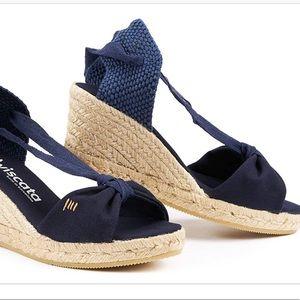 VISCATA Handmade in Spain Wedge,Ankle-Tie Wedg